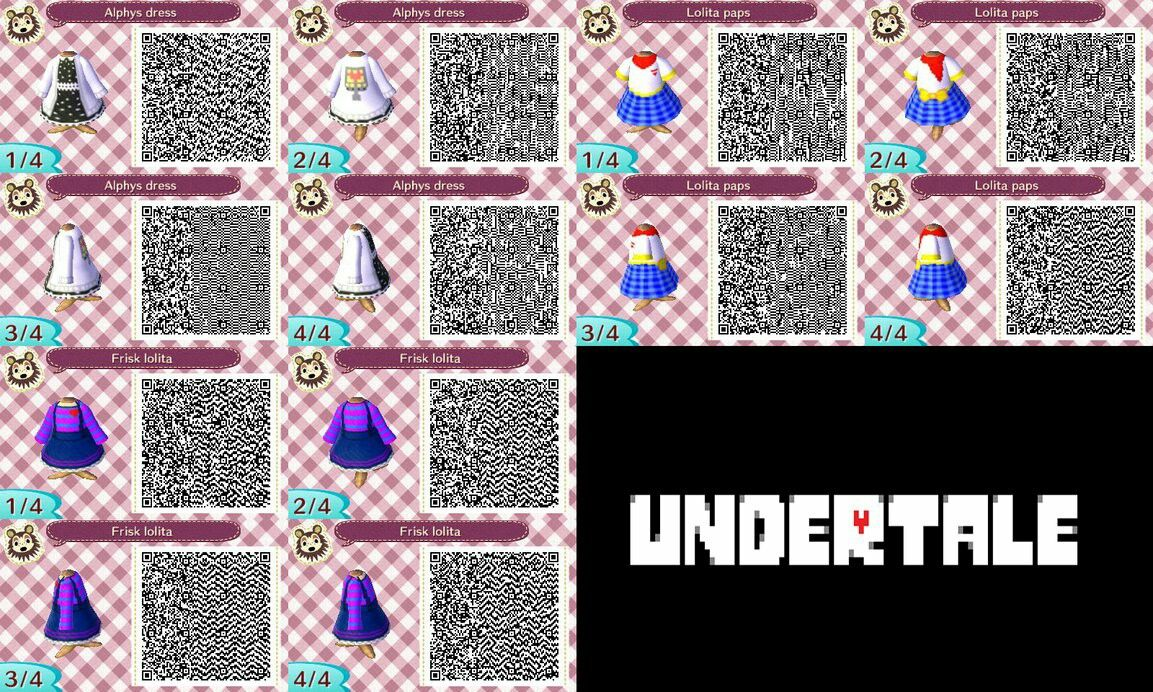 Undertale QR codes for Animal Crossing New Leaf  | Animal