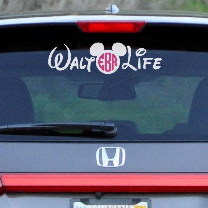 Mickey  Minnie Personalized Name Family Vinyl Car Decal Sticker - Disney custom vinyl decals for car