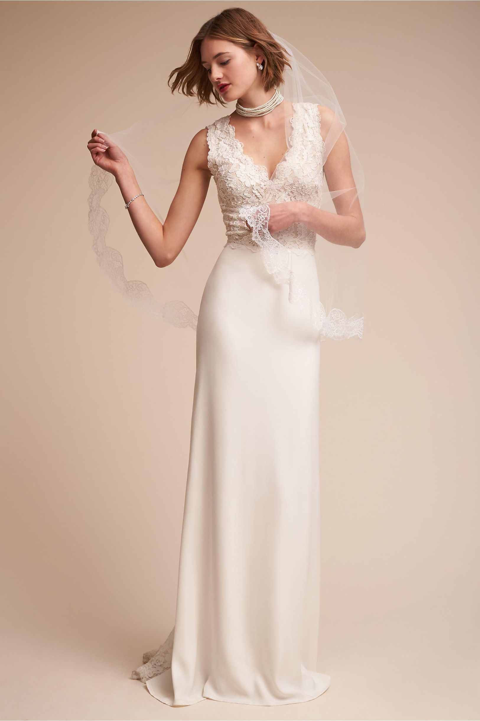 BHLDN\'s Tadashi Shoji Andora Gown in Ivory