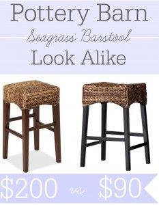 Bar Stools And High Table, Pottery Barn Seagrass Barstool Look Alike At Target Pottery Barn Kitchen Kitchen Bar Stools Bar Stools