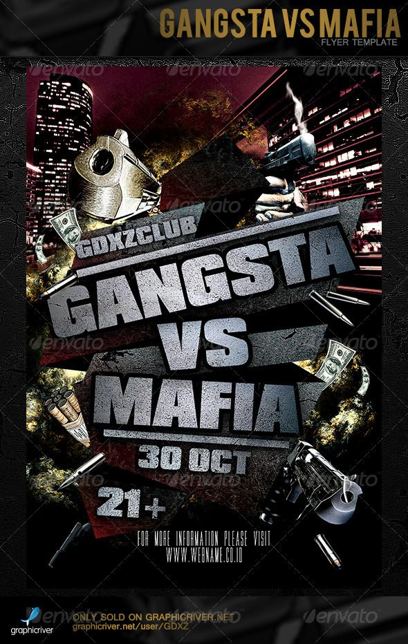 Gangsta Vs Mafia Flyer Template Flyer template, Mafia and Template - zombie flyer template