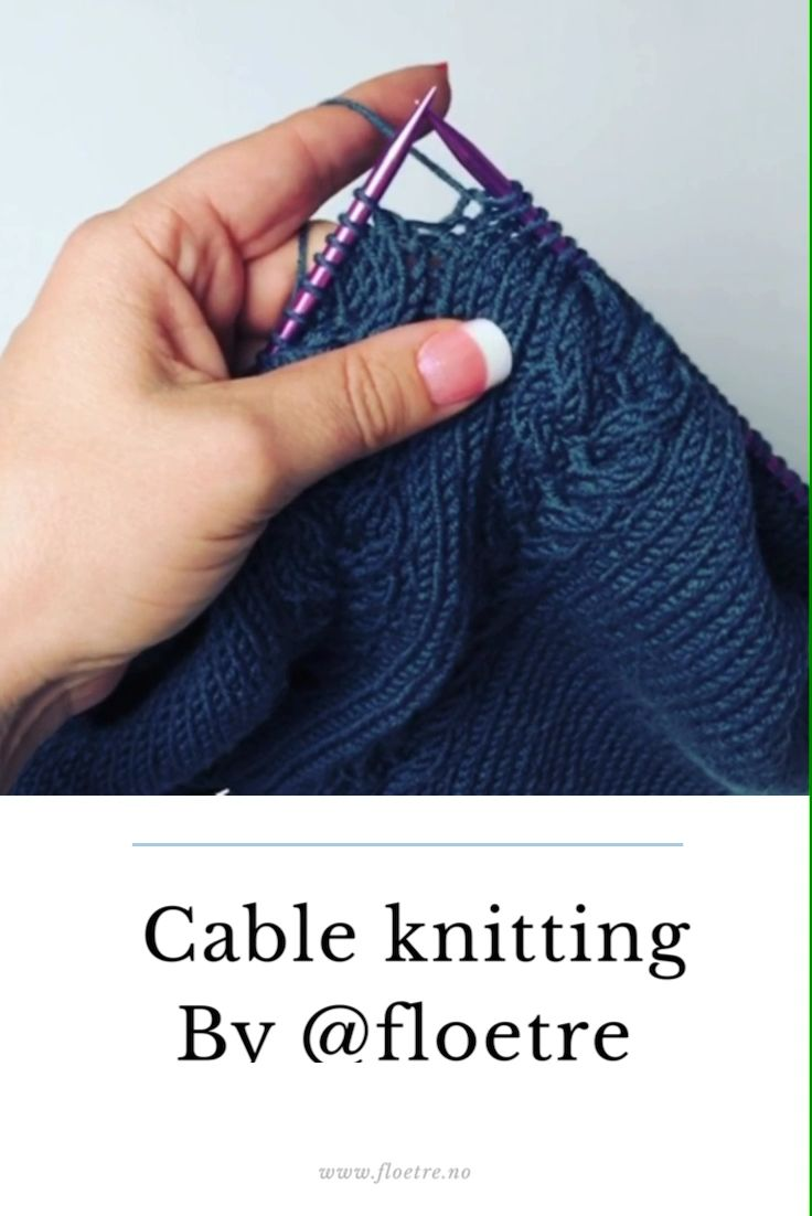 Photo of Cable knitting with @floetre