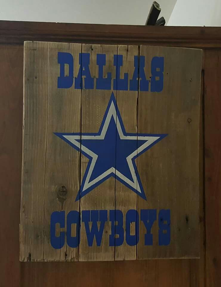 Dallas cowboys pallet sign furniture pallet projects for Dallas cowboys arts and crafts