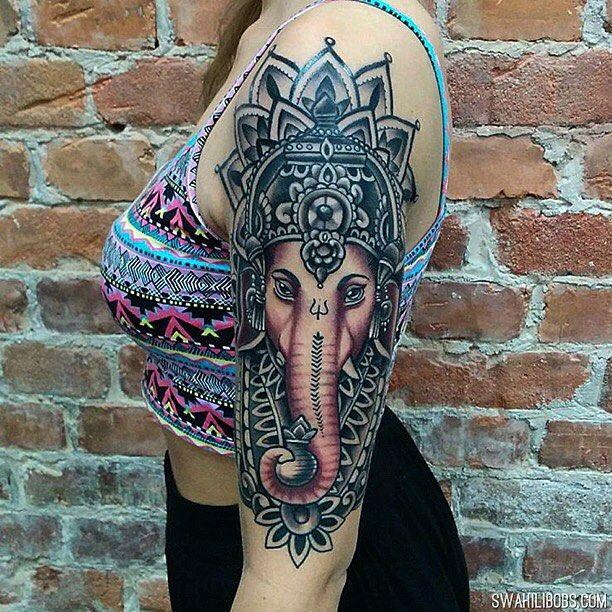 Buddhist Elephant Tattoo Meaning: Ganesha By Ion @ionrosgrim