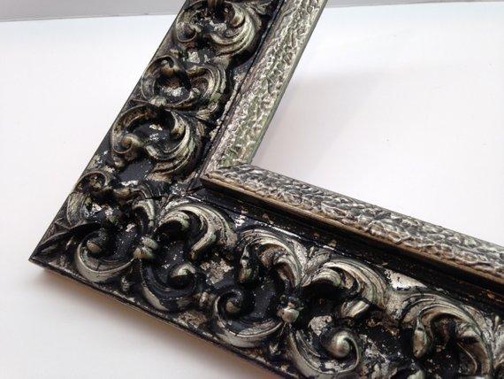 Black Silver Ornate Picture Frame 3x5 4x6 5x7 8x10 11x14