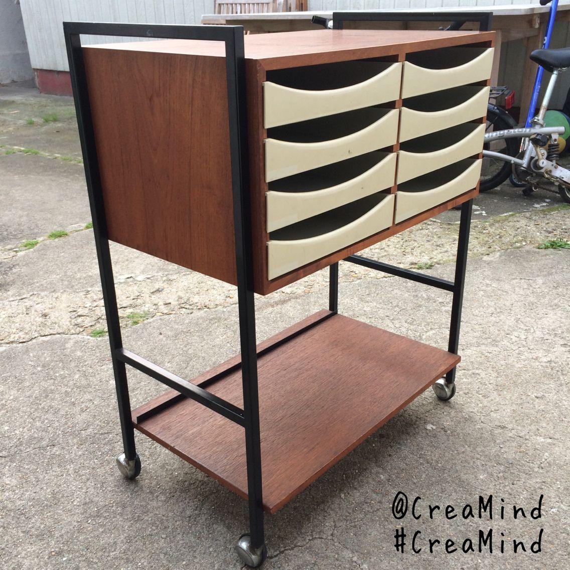 Genbrugsguld, loppefund, retro, teak! Jeg elsker dette fantastiske gamle møbel, det stammer fra et gammelt trykkeri og nu har det fået nyt liv i mit køkken ❤️