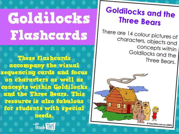 Goldilocks Flashcards Flashcards, Sequencing cards