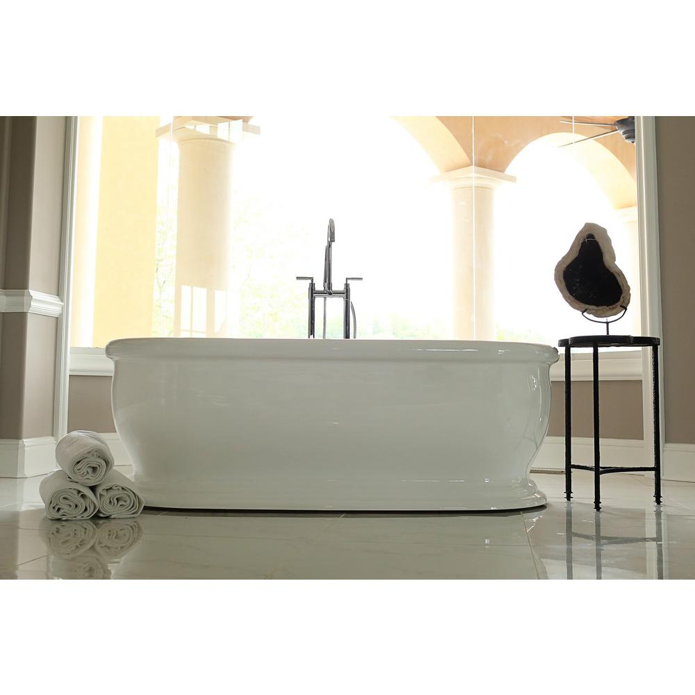 null Bliss 5.7 ft. Acrylic Flatbottom Non-Whirlpool Bathtub in White ...