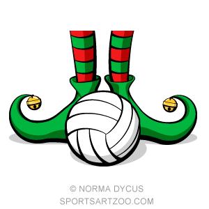 Volleyball Christmas Elf Feet Sportsartzoo Volleyball Christmas Christmas Elf Volleyball Team Gifts