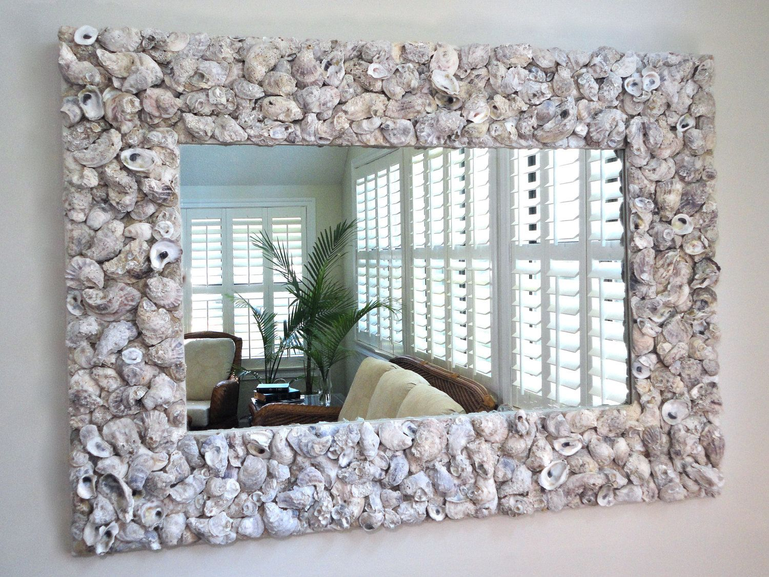 """Oyster Shell Mirror // 56"""" X 40"""""""