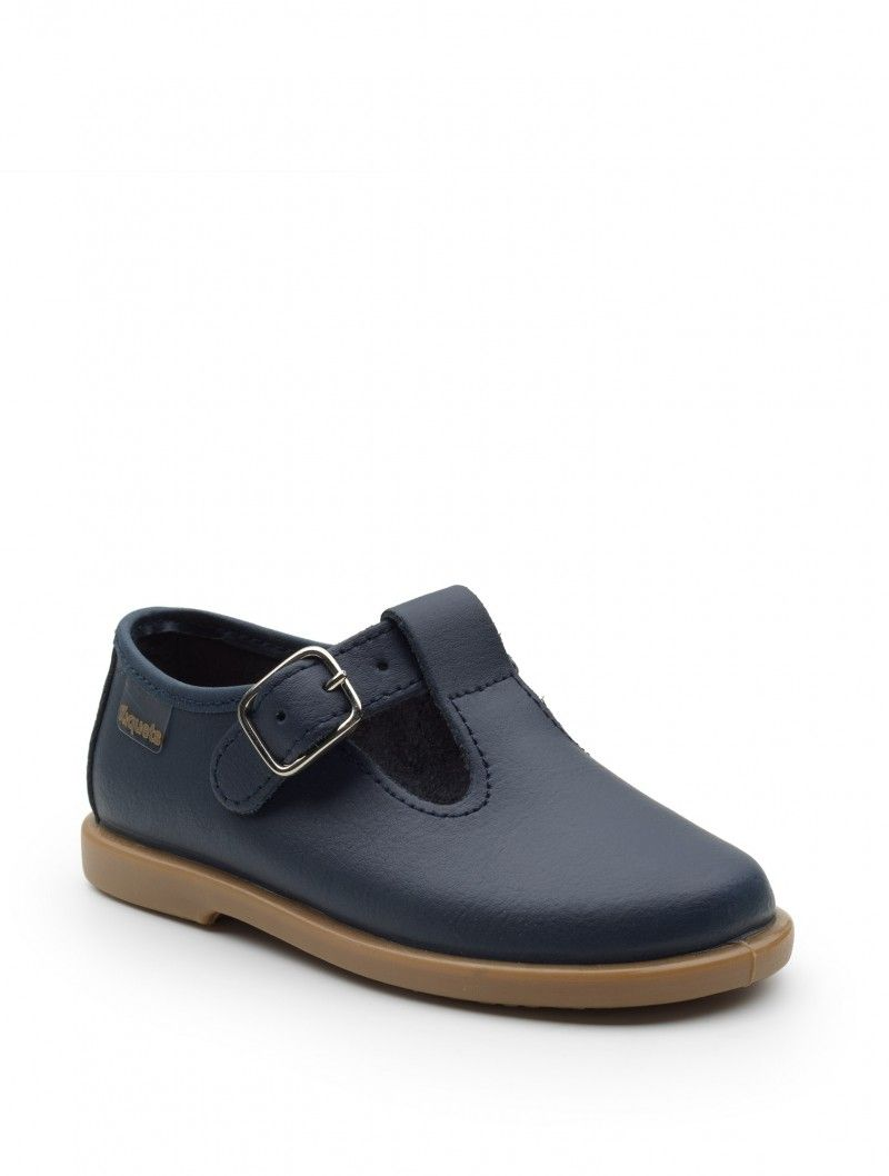 Baby Unisex Navy Leather Shoes - Billie En 2020