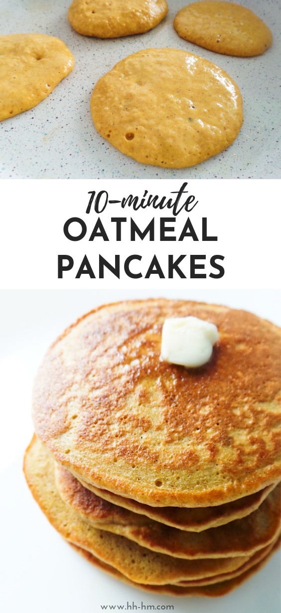Oatmeal Pancakes {Healthy, But Addictive} - Her Highness, Hungry Me