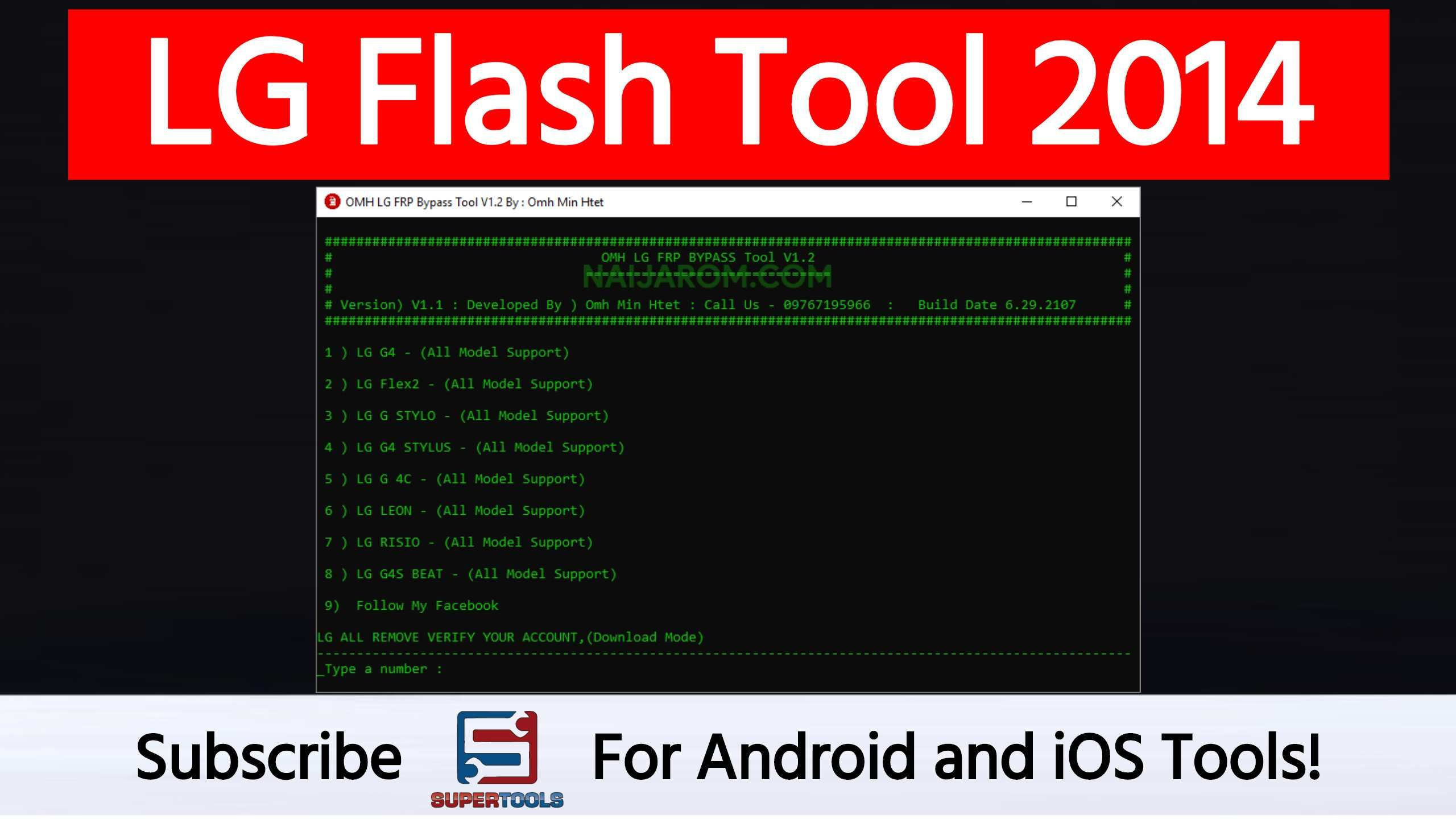LG Flash Tool 2014 helps you to flash your LG devices with