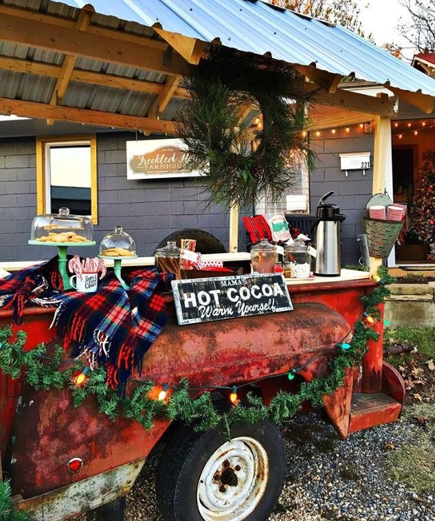Freckled Hen Farmhouse Truck Bed Trailer Truck Bed Farm Stand