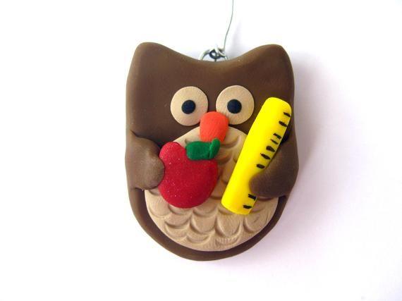 Teacher Christmas Gift - Teacher Ornament - Teacher Owl Ornament - Teacher Gift