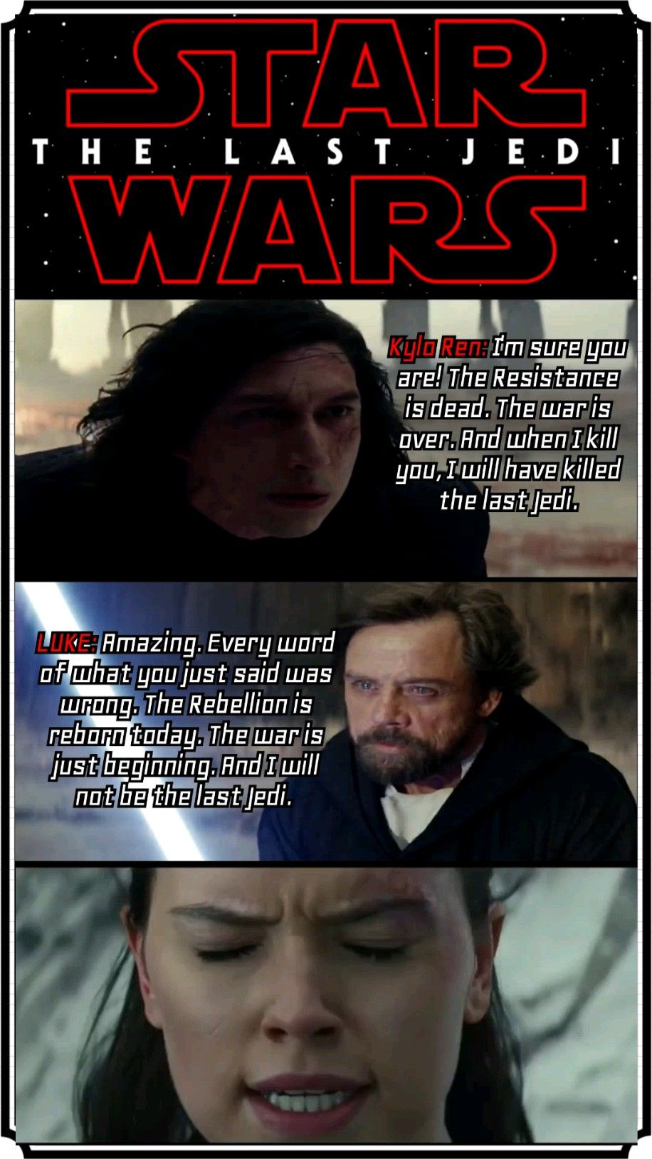 Are you F#####g kidding me, I'm not last Jedi you fool
