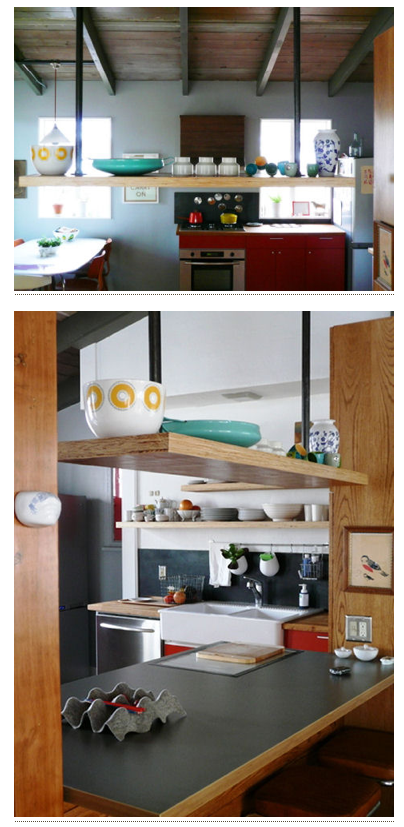Hanging Shelf Above Kitchen Island
