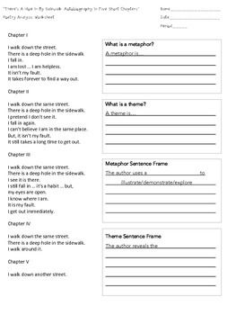 Free Poetry Analysis Worksheet That Includes Sentence Frames
