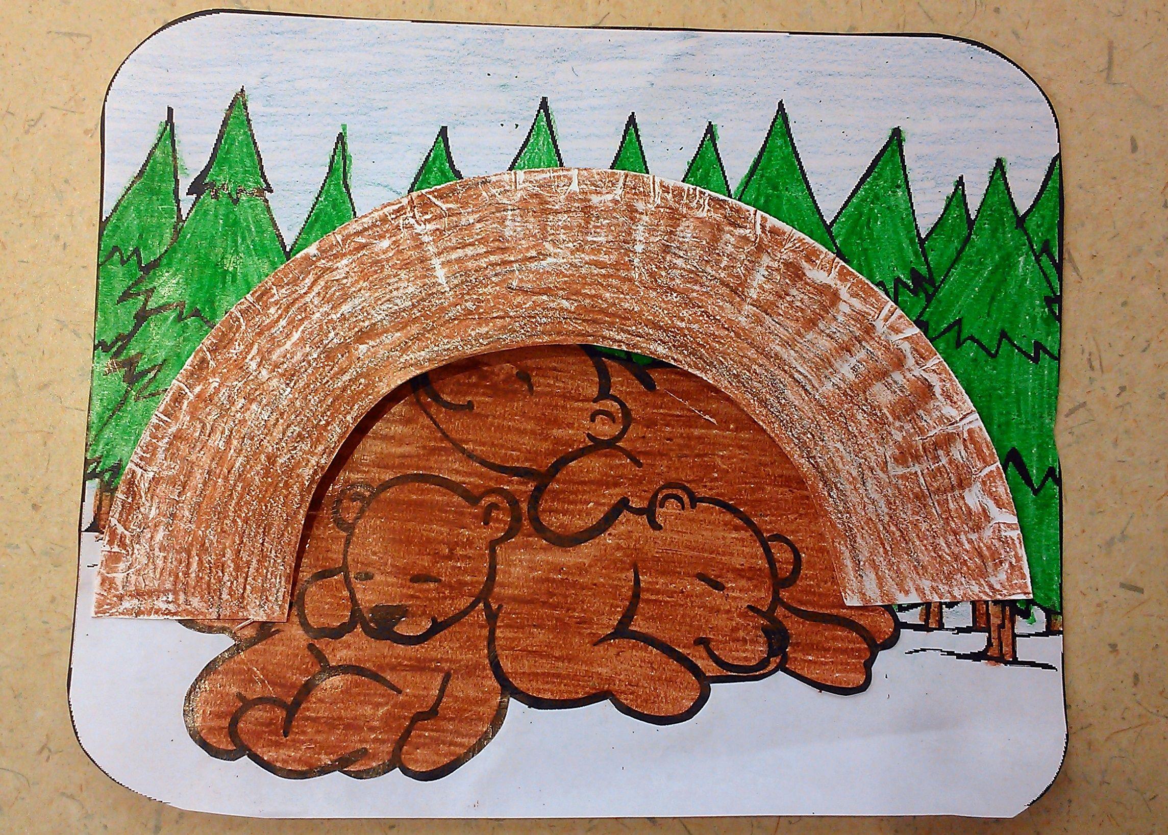 Hibernating Bear Craft Story Time Bear Crafts Bear