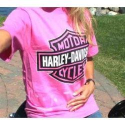 07d91118 Hot Pink Harley T-Shirt | PINK | Harley davidson bikes, Harley ...