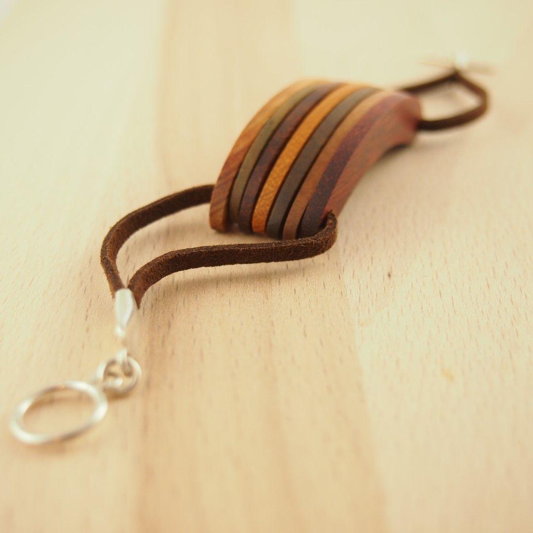 Bracelet bois et argent CIMERILLO latino. Bijoux fait main ethnique chic.