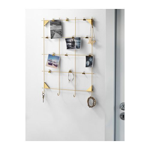 Myrheden Memo Board With Clips Brass Color House Updates Ikea