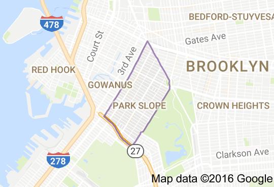 Map of Park Slope, Brooklyn, NY | Brooklyn map, Park slope brooklyn, Map
