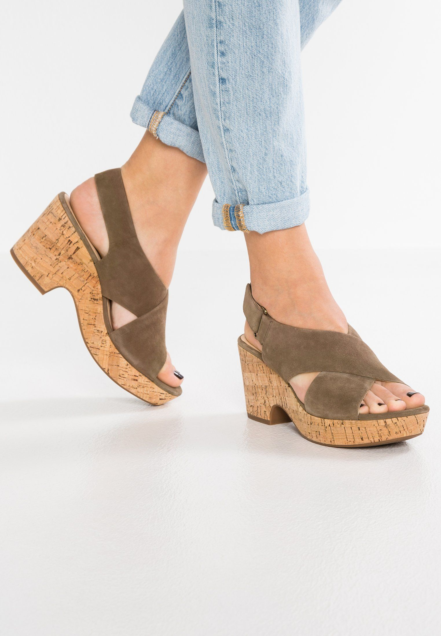 8953840c17 A chunky heel and a strappy, sinuous upper mark this chic open-toe sandal  style. An ankle strap provides a secure, adjustable fit, and its full grain  ...