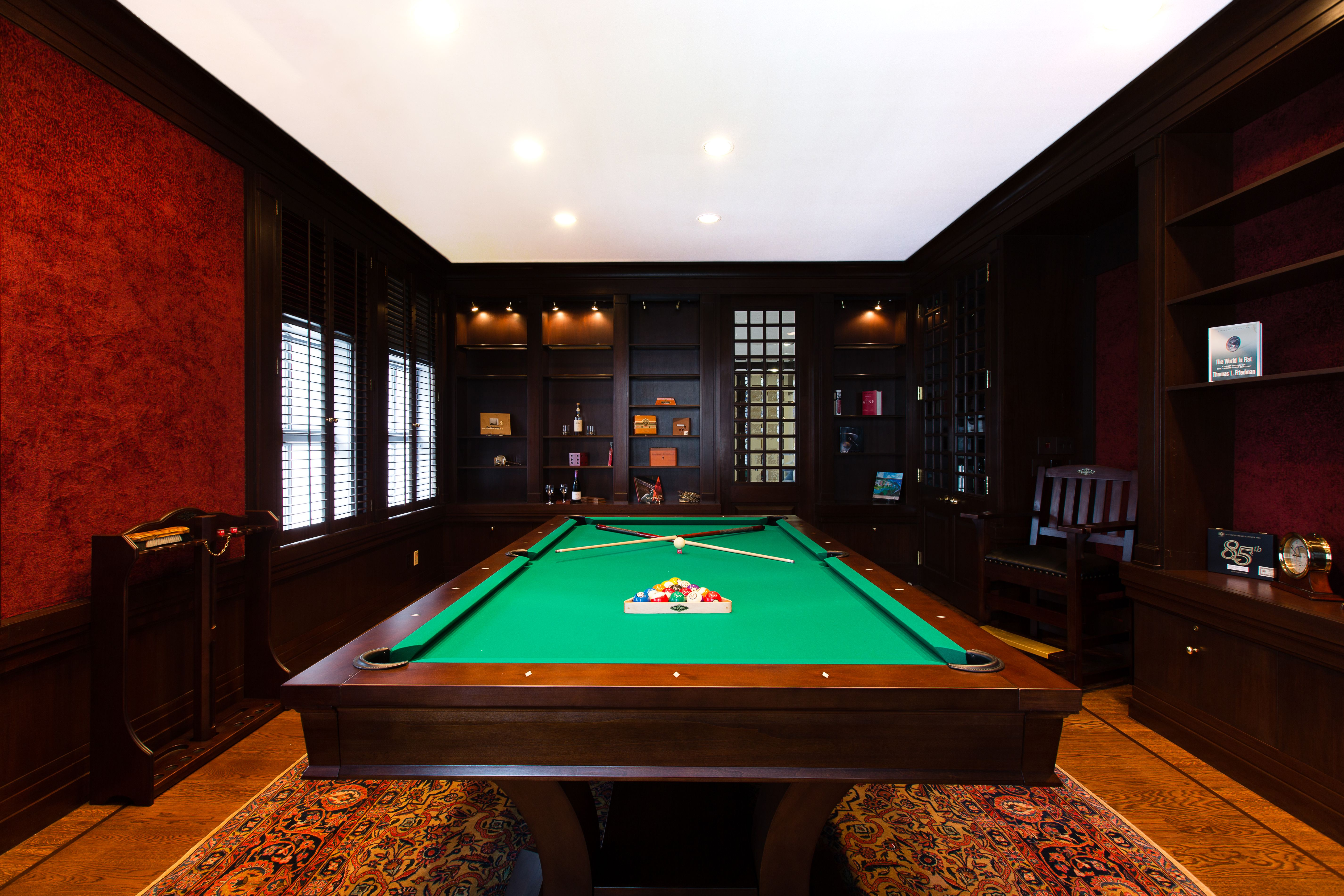 billiards room at wingtip textured red paint for my walls