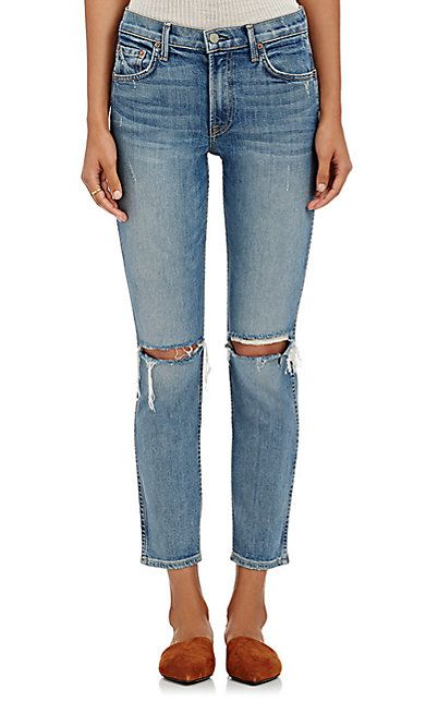 4afc5063 Free Shipping and Free Returns on GRLFRND Naomi Distressed Crop Jeans at  www.barneys.com. Made in the U.