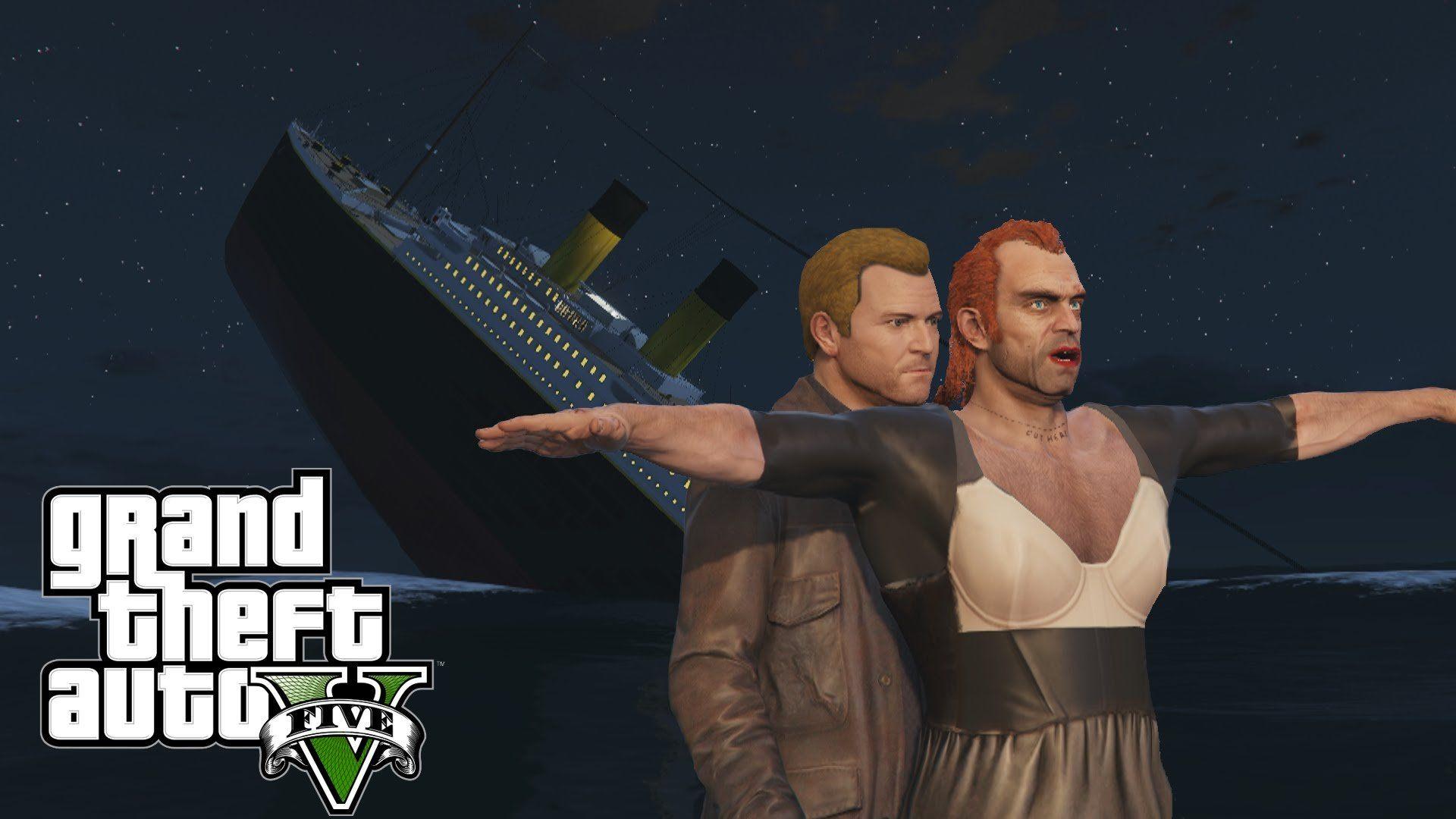 GTA V Meets Titanic, Sinks The Internet | GTABOOM | Gta