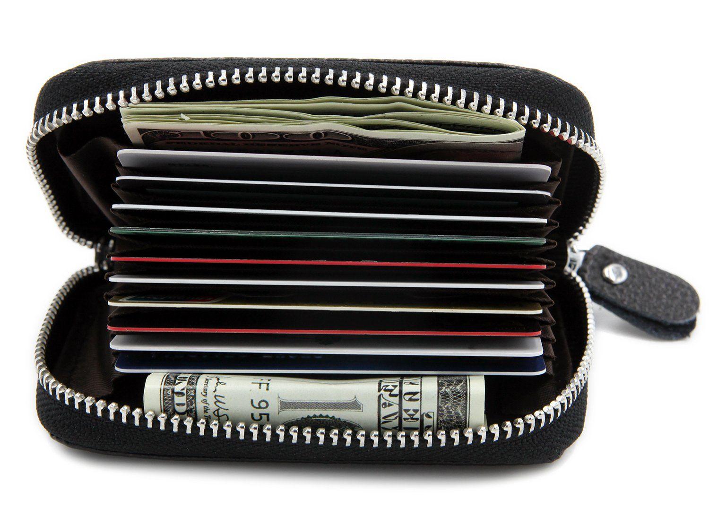 RFID Blocking Genuine Leather Credit Card Case Holder