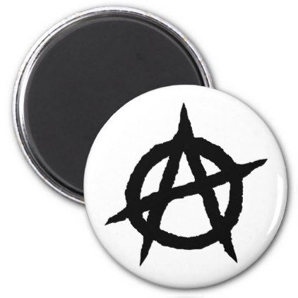 Anarchy Symbol Black Punk Music Culture Sign Chaos Magnet Black