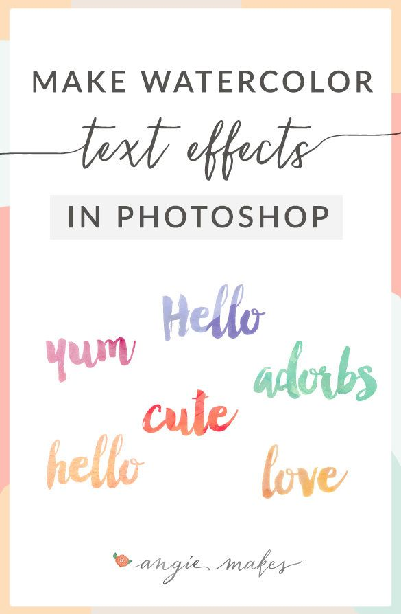 Watercolor text effect in graphic design graphic design how to make convincing watercolor text effects in photoshop love this design idea to create text with watercolor textures angiemakes ccuart Choice Image