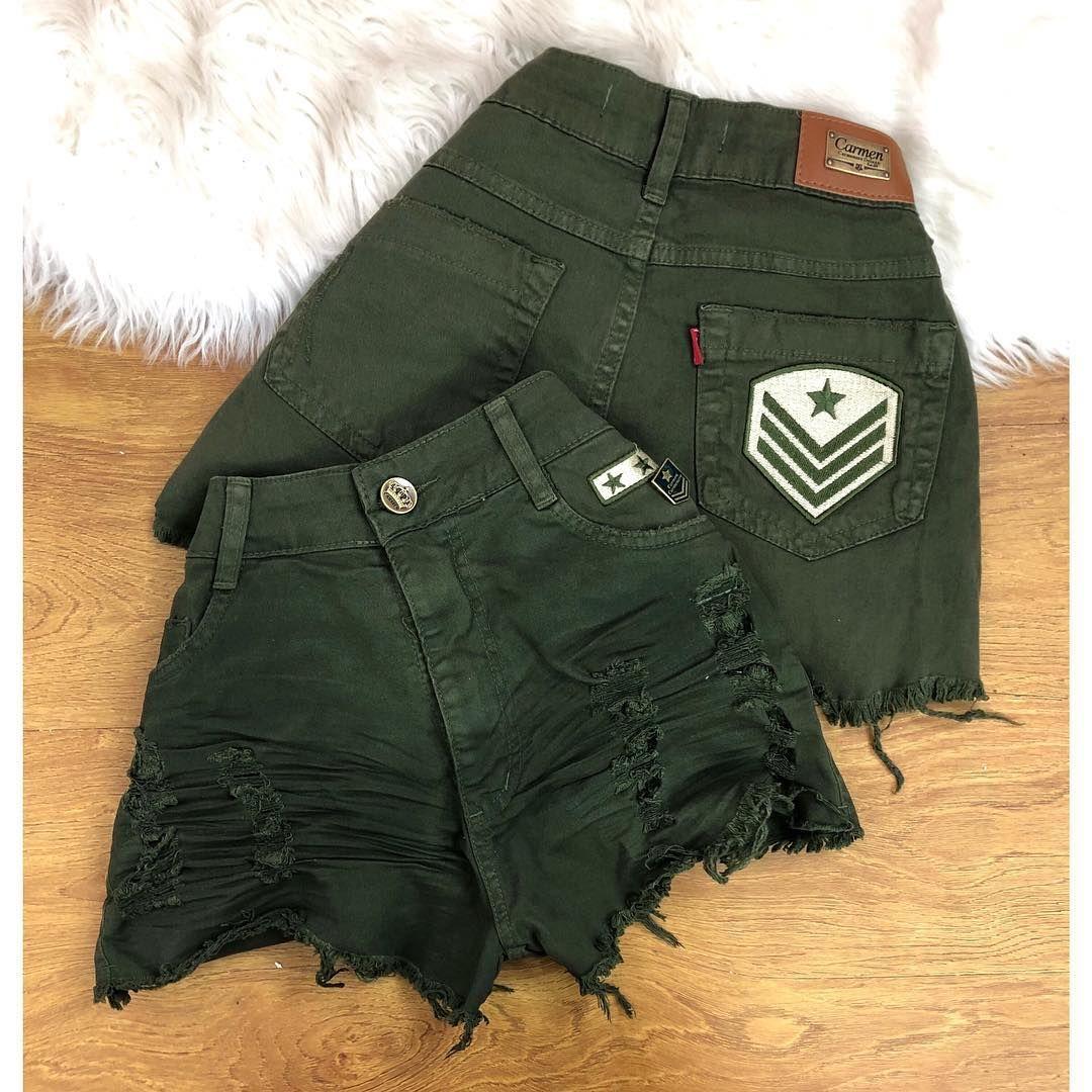 A imagem pode conter  shorts Roupas Militares Femininas bb13845471e