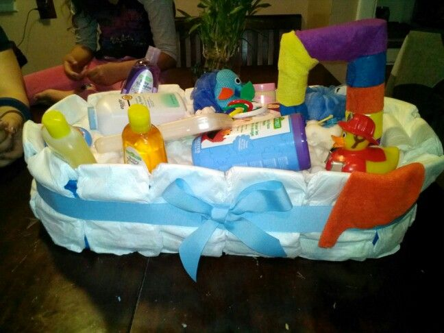 colorful boys bath tub diaper gift cake baby shower ideas pinter. Black Bedroom Furniture Sets. Home Design Ideas