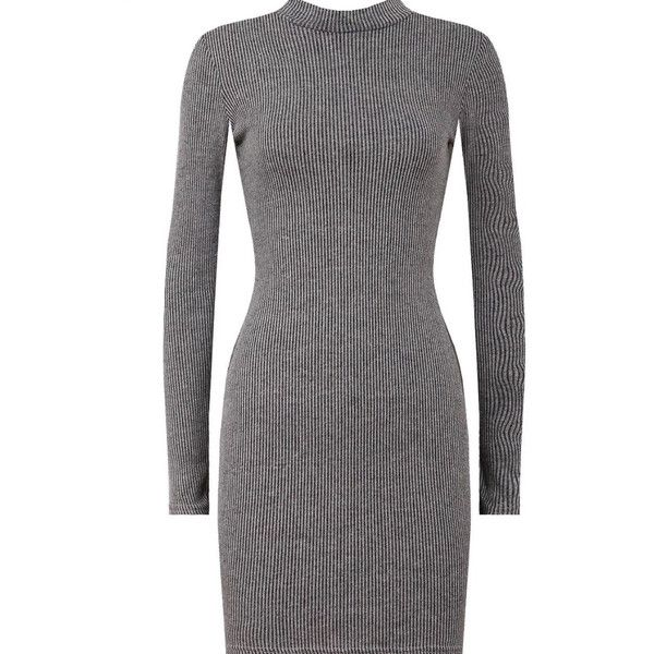 Seline Bodycon Dress (5 colours) (265 NOK) ❤ liked on Polyvore featuring dresses, long sleeve turtleneck, turtleneck dress, body con dress, long sleeve turtleneck top and longsleeve dress