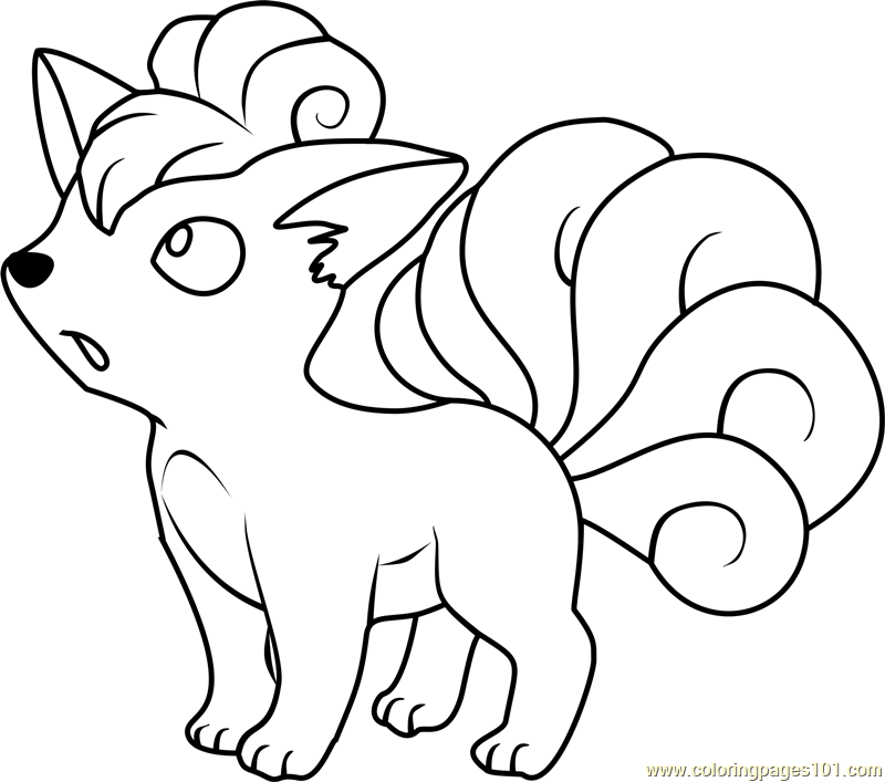 pokemon tails coloring pages - photo#17