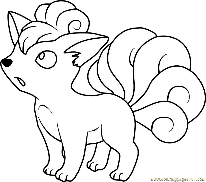 Ninetales Pokemon Coloring Page