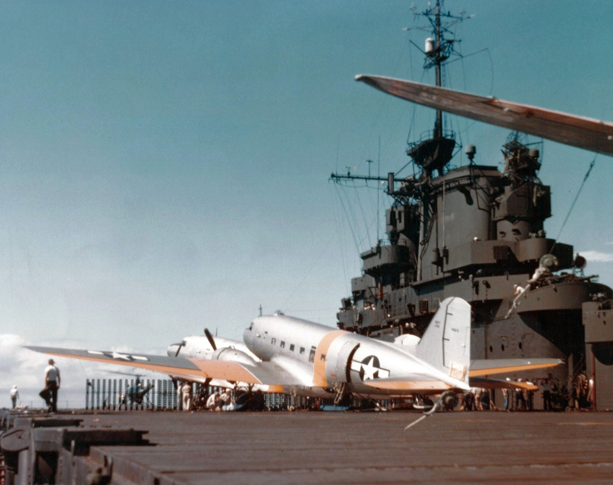 R4Ds of Operation Highjump aboard USS Philippine Sea