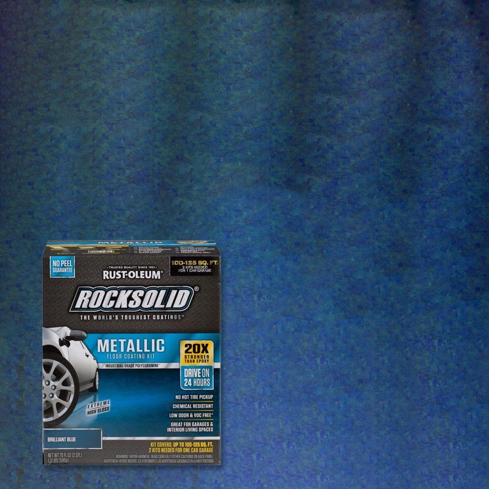 Rust oleum rocksolid 70 oz metallic brilliant blue garage floor rust oleum rocksolid 70 oz metallic brilliant blue garage floor kit case of jameslax Gallery