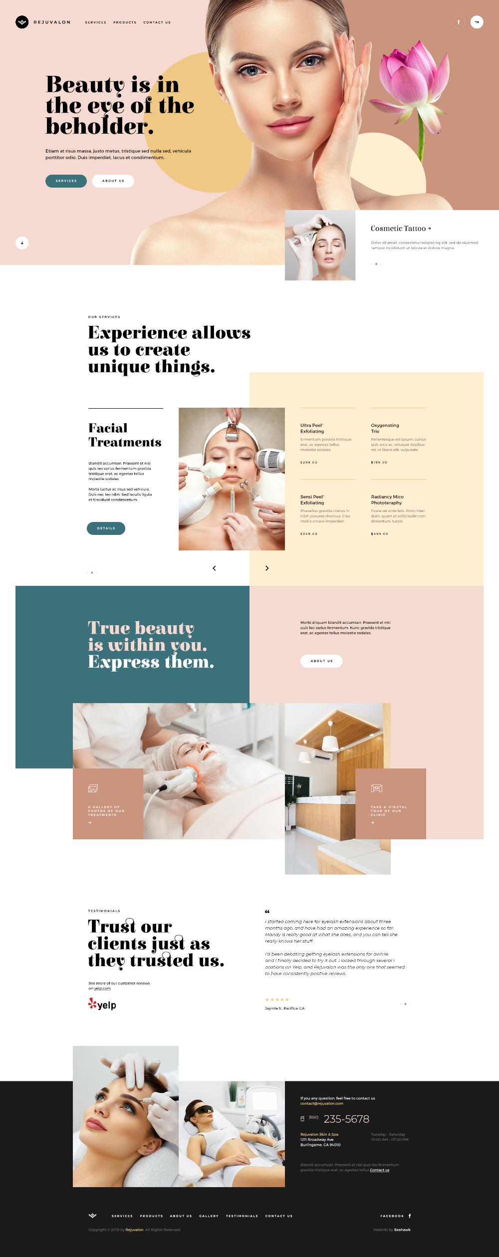Rejuvalon 100 Png Web Layout Design Web Design Tips Cosmetic Web