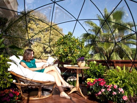 The garden igloo is a pop up geodesic dome perfect for any backyard