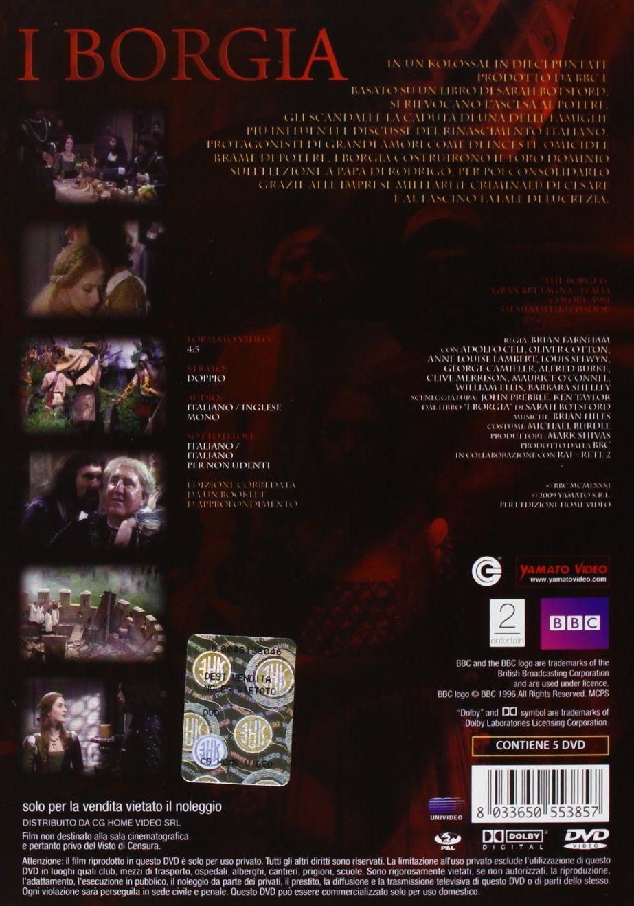 I Borgia 5 Dvd Italia Borgia Dvd Italia Cine