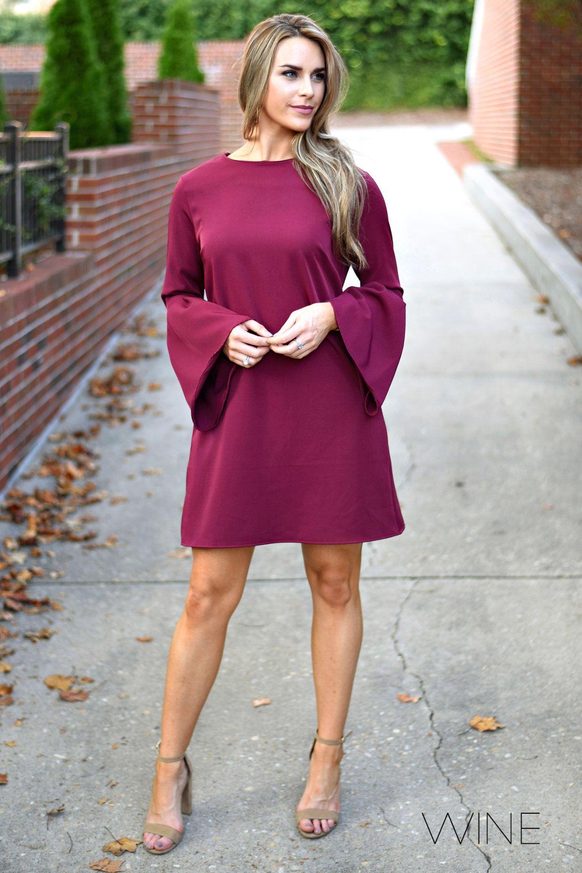 Elegant Bell Sleeve Dresses