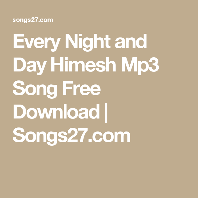 every night and day download mp3