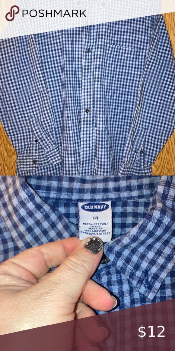 Old Navy Youth Plaid Shirt 14