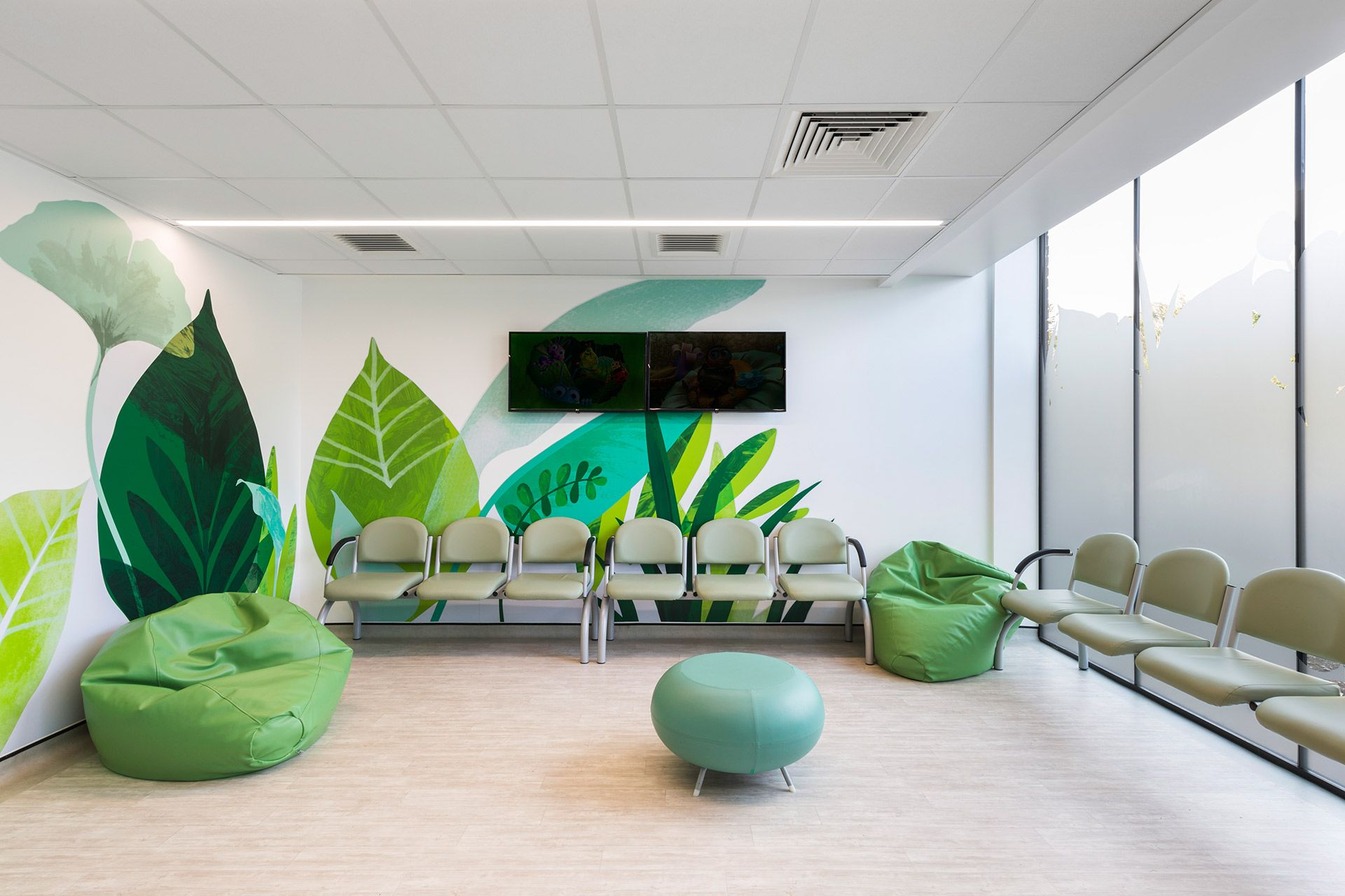 london hospital childrens waiting room interior Clinic