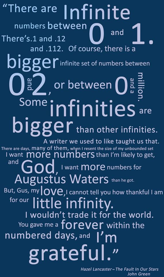 The Fault In Our Stars Poster By Someinfinities On Etsy 750