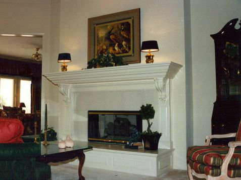 Mantle Ledge Style with Corbels Raised Panel Hearth Mantel